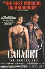 MELINA KANAKAREDES as Sally Bowles in CABARET with JON SECADA closed 2000
