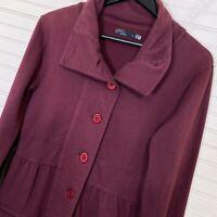 Prana Button Sweater Jacket 100% Cotton Women's Size M Plum