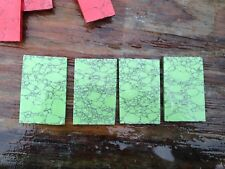 4 Slabs of Synthetic Turquoise for Carving or Cutting 200 Grams Rough