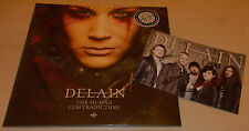 DELAIN-THE HUMAN CONTRADICTION-2014 2xLP GOLD VINYL-100 ONLY+SIGNED PHOTO-NEW