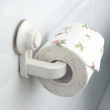 Wall Mounted Tissue Paper Holder Removable Rack Suction Cup For Bathroom