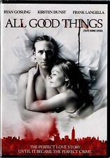 NEW DVD // ALL GOOD THINGS - Ryan Gosling, Kirsten Dunst, Frank Langella,