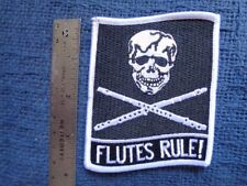 Flutes Rule patch Band Orchestra piccolo recorder Jolly Roger skull Music VF-84