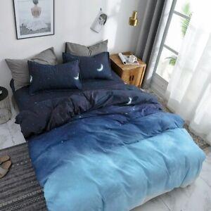 Bedding Set Pattern Gradient Color Duvet Cover Set Bed Sheet Pillowcases for Boy