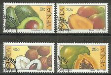 Venda - Früchte Satz gestempelt 1983 Mi. 82-85