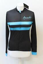 ARRIVEE Ladies Black Turquoise Long Sleeve Intermediate Cycling Jersey M BNWT