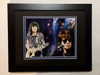Mick Jagger of The Rolling Stones Hand Signed Autographed Photo Framed W/COA
