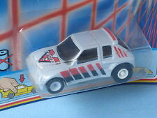 Matchbox Peugeot 205 Grey Body Turbo Two Toy Model Car 65mm Long Blister pack