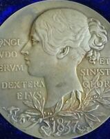 1897🔹️Large Silver Medal Coin Queen Victoria Diamond Jubilee RAINBOW TONED