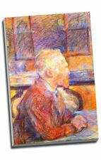 Self-Portrait with Straw Hat Vincent Van Gogh VG385 Art Print A4 A3 A2 A1