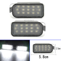 Pair LED License Plate Light Lamps For Ford Ecosport Fiesta Focus Mondeo Ranger