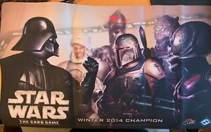 Star Wars LCG Card Game Winter 2014 Darth Vader & Bounty Hunters Playmat + Promo