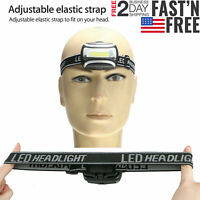 COB LED Headlamp AAA Headlight 3Mode Head Lamp Light Torch Flashlight Waterproof