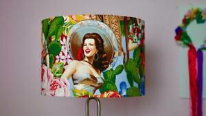 Pinup Lampshade 30cm Drum Lamp shade Mexican Lamp Shade Seniorita Handmade
