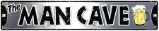 MAN CAVE Metal Street Sign 24x5 Embossed Sign Wall Tag FAST USA SHIPPING