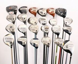 Lot of 24 Various Golf Club Woods Cleveland Callaway Titleist TaylorMade Cobra