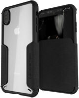 For iPhone XS Max Case | Ghostek EXEC3 Clear Hard Flip Card Wallet Phone Cover
