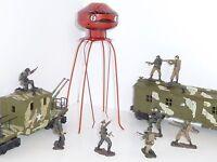 "Original First Run 1950's Space Age ""Martian Invader"" Military Tin Wind-Up - NIB"