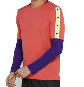 Nike Wild Run Longsleeve Shirt Running Shirt Sports BV5590 850 Orange