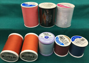VARIETY of 8 Spools different kinds of thread, different colors