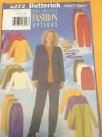 Butterick Pattern 5272 Misses jacket belt top skirt & pants 20-22-24