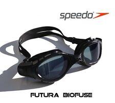 Speedo Futura Biofuse Goggles Adult RRP$40 Triathlon Swimming Black Tinted Goggl