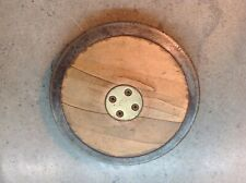 Vintage Track Field Wood Brass Discus 3-1/2 lbs Sports Throw GILL