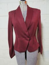 H&M Strawberry Wine Jacket Blazer Women's 6 Vintage Flair
