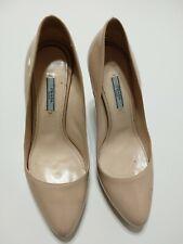 Prada Milano Classic Pump Heel Shoes EUR 40 US 9.5 Nude Beige Leather