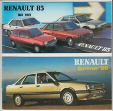 New listing Two 1985 & 86 Renault Range Small French Brochures 4 5 9 11 Alpine Fuego 18 25