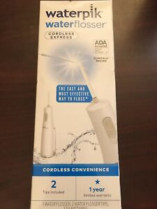 New!! Waterpik-Cordless Express Portable Water Flosser Oral Irrigator 2 Tips