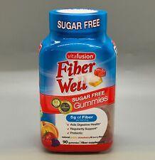 Vitafusion Fiber Well Sugar Free Gummies 90ct Exp 1/22+
