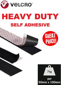 VELCRO® HEAVY DUTY ULTRAMATE® 50mm Self Adhesive Tape Stick On Hook & Loop Strip