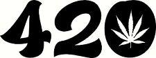 420 DECAL WALL OR CAR MARIJUANA WEED CANNABIS RASTA DOPE STICKER gecko