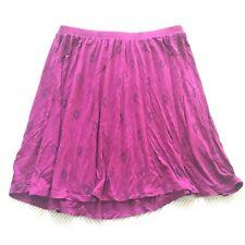 Super Cute Old Navy Small Purple w/Diamond Print Jersey/Cotton Skirt Comfy EUC!