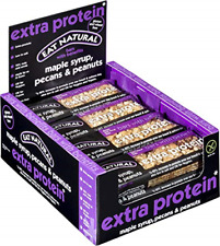 Eat Natural Bars with Benefits Extra Protein Maple Syrup, Pecans & Peanuts, 45g