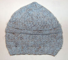 Hand-knitted Baby Hat - Grey and Blue Mix - Newborn