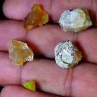 16.95Cts PURE 100% NATURAL ROYAL MULTI SHINING ETHIOPIAN OPAL ROUGH LOT GEMSTONE