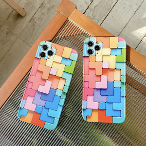 Colorful Block Design Phone Case For iPhone