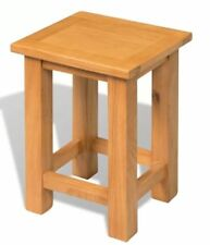 Small Wooden Side Table Solid Oak Wood Slim Occasional Coffee End Lamp Stand