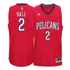 Lonzo Ball New Orleans Pelicans Adidas Climacool Alt Red Swingman Jersey XL