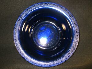 Cobalt blue serving/fruit bowl