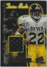 Tavian Banks Iowa Hawkeyes Football 1999 Press Pass Cert College Jersey Card