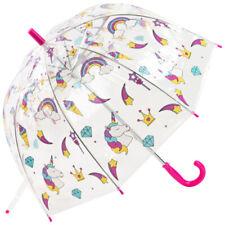 Susino Children's See-Through Dome Umbrella - Unicorns