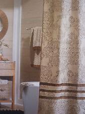 "Threshold Tan Ruffle Fabric Shower Curtain 72"" x 72"" NIP"