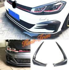 Carbon fibre Front Fog Lamp Eyelid Strip Cover For 2018-2020 VW Golf GTI MK7.5