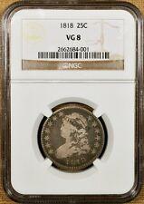 1818 B-10 NGC VG08 Bust Quarter