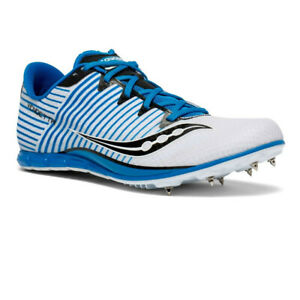 Saucony Womens Vendetta 2 Running Spikes Traction - Blue White Sports Breathable