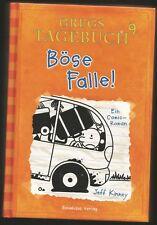 GREGS TAGEBUCH, Band 9 - BÖSE FALLE! Comic Roman Jeff Kinney, Gebunden, Sehr gut