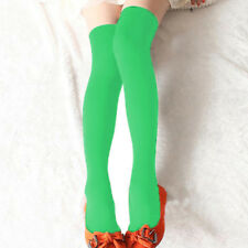 Lady Extra Long Boot Socks Over Knee Thigh High School Girl Candy Color Stocking